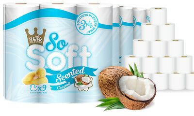 45 Rolls of Little Duck Coconut Soft 3Ply Toilet Tissue Roll - 9 Rolls x 5 Pack