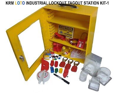 Krm Loto - Industrial Lockout Tagout Station Kit 1