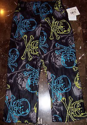 New SKULLS CROSSBONES Boys Kids Sleep Lounge Pajama PJ Pants Size (XS) 4/5 Nice