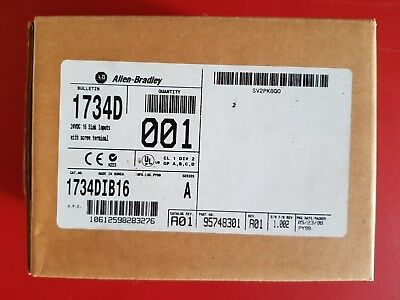 New Surplus Allen Bradley Input Module I/O Device 1734D-IB16 Series A