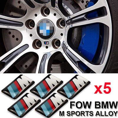 5pcs M Tech Power 3D Alloy Wheel Badge & Steering Emblems Decal For All M Series