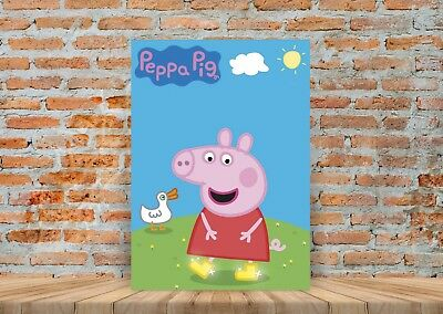 Peppa Pig Kids TV Show Poster or Canvas Art Print - A3 A4 Sizes
