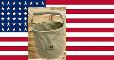 Seau vache à eau ( US WW2 water bucket ) 30cms diamètre JEEP DODGE GMC MILITARIA
