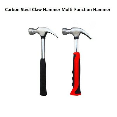 Carbon Steel Claw Hammer Steel Pipe Rubber Antiskid Handle Multi-Function Hammer