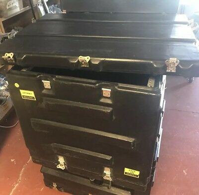 Pelican Hardigg Wheeled Military Large Transport Case Med-Chest  22x22x29