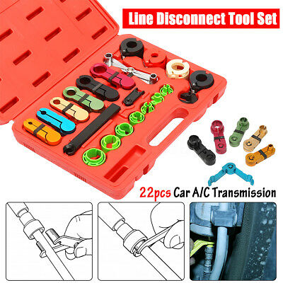 22Pcs A/C Air Conditioning Transmission Fuel Oil Line Disconnect Tool Set + Case
