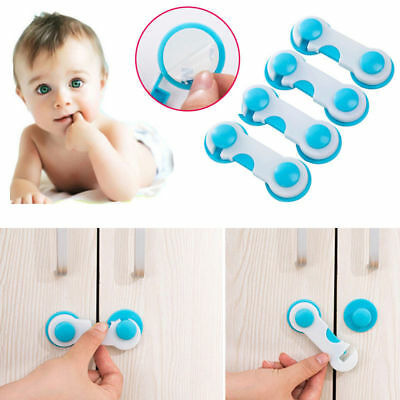 2 X Baby Kid Child Safety Lock Proof Cabinet Drawer Fridge Pet Cupboard Door UK