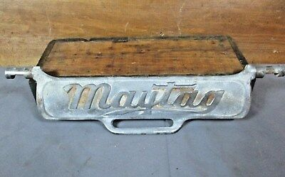 Vintage Cast Iron Maytag Wringer Washing Machine Safety Release Cover Part Sign