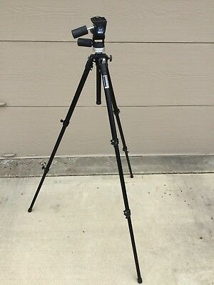 Bogen Manfrotto Tripod 3205 with 3030 Head  Italy Aluminum Black