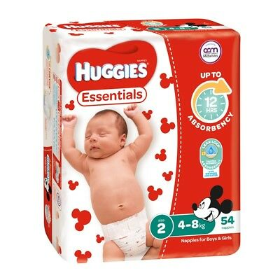Huggies Essential Nappies - Infant - Size 2 - 54 Pack