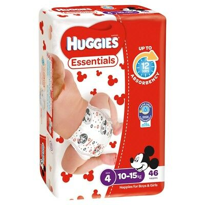 Huggies Essential Nappies - Toddler - Size 4 - 46 Pack