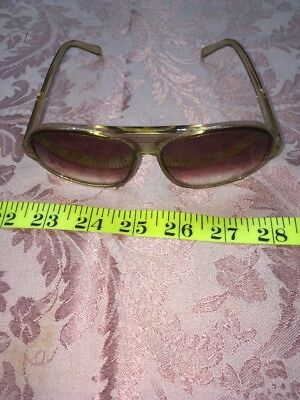 1dae28b165 Womens Vintage Foster Grant Usa Clear Brown Jackie O 70 s Sunglasses J246