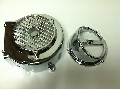 Chinese Scooter Chrome Fan Cover And Scoop  GY6 150cc