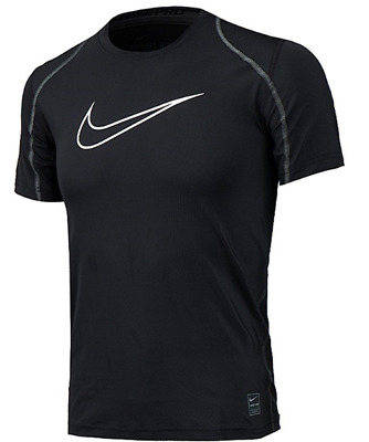 Nike Pro Cool Dri Fit Fitted T-shirt Black Compression Fitted 726463 010 NWT