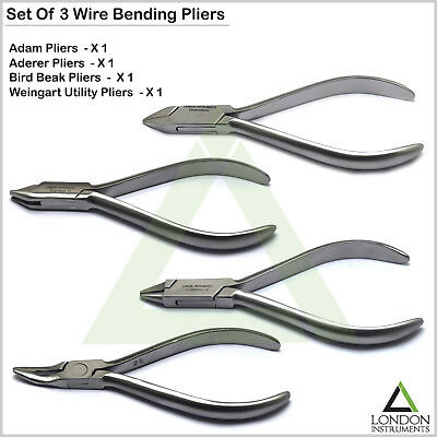 Dental Wire Bending Pliers Weingart Wire Forming Contouring Adams Plier 3 Prong