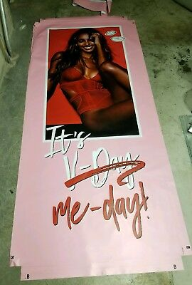 Victoria Secret Model, In Store Window Display VYNL POSTER LIFE SIZE