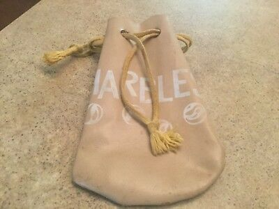 Vintage Leather Pouch with Drawstring - For Marbles, Dice, Crystals,