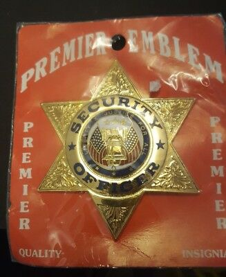premier 6 star gold badge security officer quality NEW