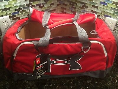 1c100f961d01  NEW  Under Armour UA Storm Undeniable II Unisex Red Gray White Duffle Bag  Armor