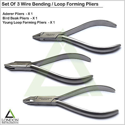 Professional Orthodontic Loop Forming Wire Bending Pliers Dental Aderer 3 Prong