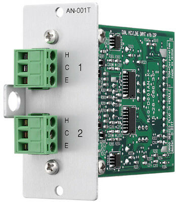 TOA T-001T Output Module for 9000/9000M2, Two Line Outputs w/ DSP