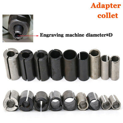 9 pcs/lot High Precision Adapter collet shank CNC router tool Adapters holder
