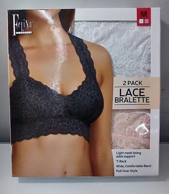 453a684557392 FELINA WOMEN S LACE Racerback Bralette (Pack of 2) -  10.99