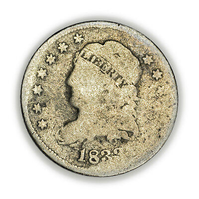 1833 Capped Bust Half Dime, Tiny, Circulated, Early Type Silver Coin [3722.31]