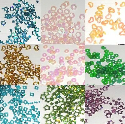 Nail Art AB Hollow Frame Hearts Stars Glitter for Gel Acrylic Tips Decorations