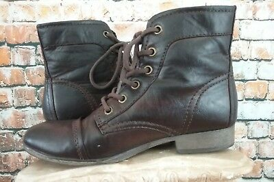 1bee1eadd2cb MADDEN GIRL LACE Up Zip Booties Boots ~ Brown ~ Size 6 M -  15.95 ...