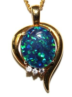 Special Good Chice Christmas Opal Necklace Solid Sterling Silver Ladies Gift