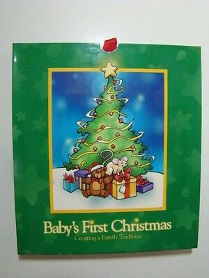 NEW Baby's First Christmas Memory Book & Picture Frame Ornament Time-Life NEW