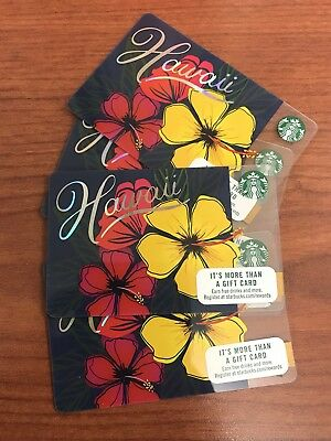 Hawaii 2018 Starbucks Collectible Gift Card (no Value) Set of 2 Cards