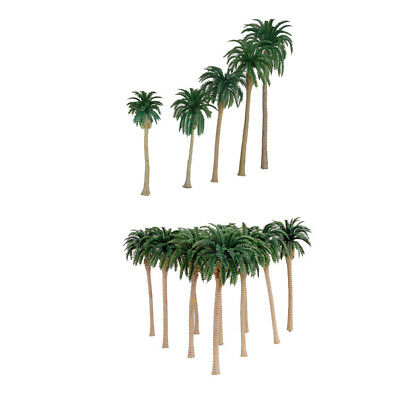 Plastic Model Coconut Trees Train Layout Scenery Landscape Diorama Green