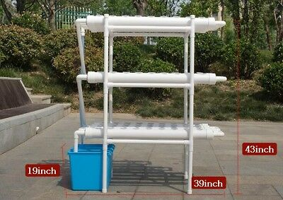 110V 108 Planting Sites Hydroponic Grow Kit Balcony Horizontal 12 Pipes 3 Layers