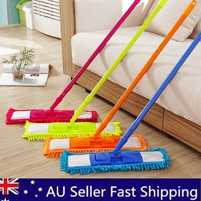 Extendable Microfibre Floor Mop Cleaner Sweeper iron pole Laminate Tile Wet Dry