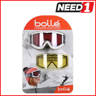 BOLLE Snowboard/Ski Goggles with Interchangeable Storm Lens. Choose Black/White