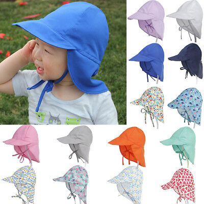 Summer Sun Hat Neck Ear Cover Beach Flap Cap Breathable for Children Latest