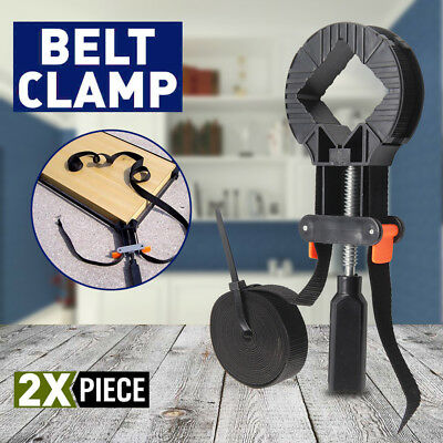 2x4M Adjustable Rapid Corner Clamp Band Strap Clamps Vice Picture Frame Woodwork