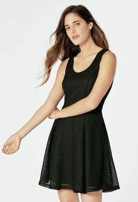 JUSTFAB Mesh Fit and Flare Dress Small/8 NEW w/ TAGS