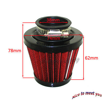 Performance 38mm Air Filter For Chinese GY6 50cc QMB139 Scooter Moped Motorcycle