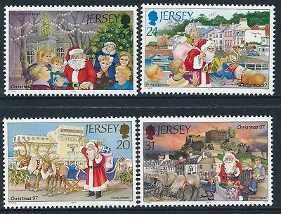 1997 Jersey Christmas Set Of 4 Fine Mint Mnh