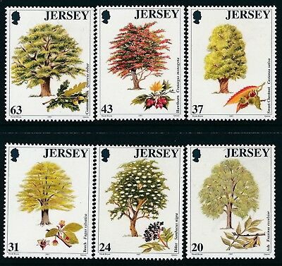 1997 Jersey Trees Set Of 6 Fine Mint Mnh