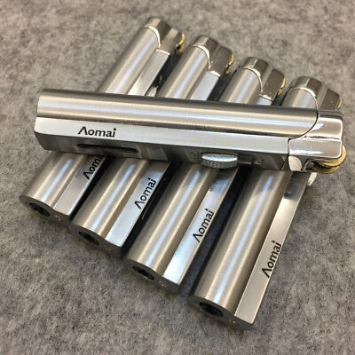 5 Pack AOMAI Jet Torch Adjustable Lockable Flame Cigar Cigarette Lighter Silver