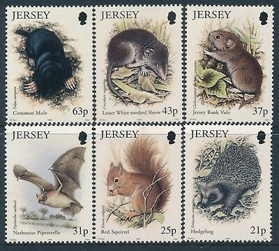 1999 Jersey Small Mammals Set Of 6 Fine Mint Mnh
