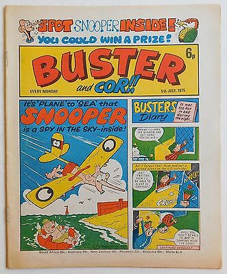 BUSTER and COR Comic - 5th July 1975