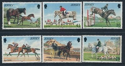 1996 Jersey Horses Set Of 6 Fine Mint Mnh