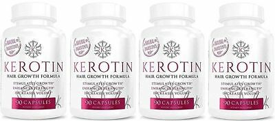 Kerotin Hair Growth 4X 90 Capsules-Free Fast Delivery