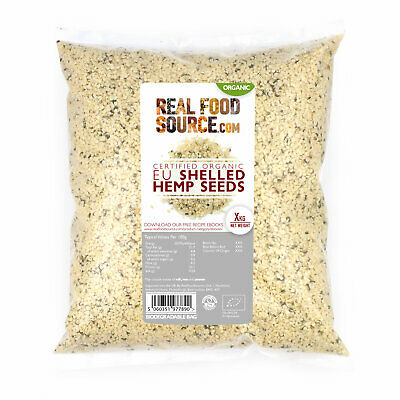 RealFoodSource - Organic EU Raw Shelled Hemp Seeds 1kg