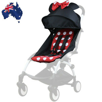 165° Sunshade Shed Cover Canopy&Seat Pad Mat For Baby YOYO Stroller Accessories